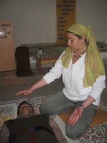 Practice of prana therapy in Ashram 5