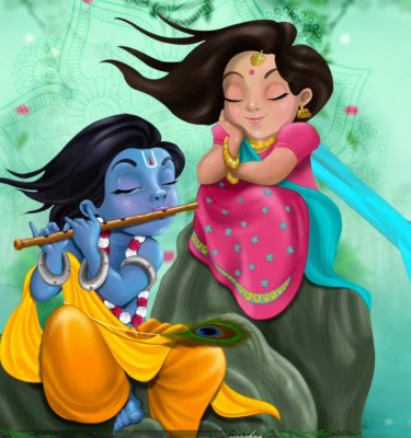 Wedding Invitation/Save The Date | e-Card & WhatsApp Invitation | Radha Krishna Style Hindu e-Card
