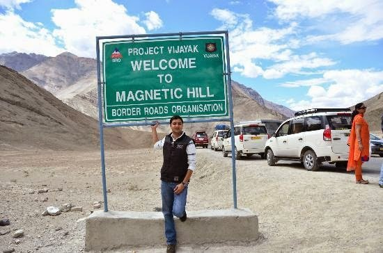 The Magnetic Hill of Leh, Ladakh