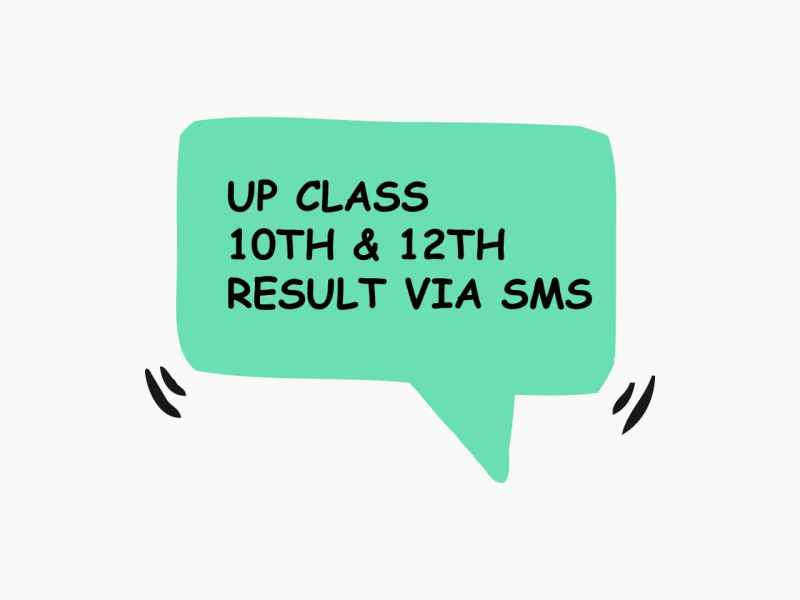 Check UP Board Class 10th 12th Result 2019 via SMS