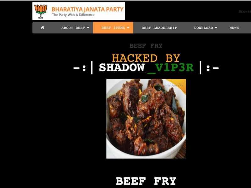 Someone hacks BJP Delhi Website