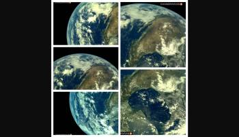 how earth looks like from chandrayaan 2