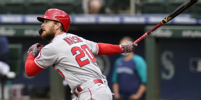 Angels offense gets going early in rout of Seattle Mariners