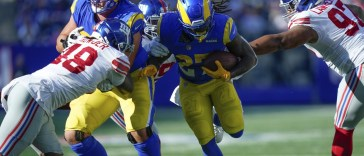 Rams 38 11 victory over the New York Giants by the