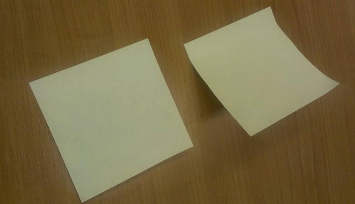 兩種方法取出的MEMO紙差別超大!平整的MEMO貼起來令人更有動力了