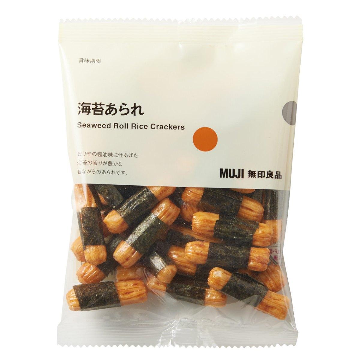 MUJI無印良品海苔米餅小卷,總脂肪只有0.3克