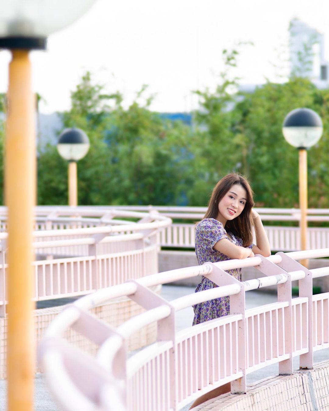 石硤尾公園粉紅色欄杆 (圖片來源:IG@_wym._)
