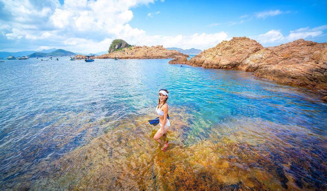 不過島上沒有大沙灘,如果想躺在沙上曬太陽的朋友千萬別選錯地方了!(圖片授權轉載:IG@sai1or_e1even)
