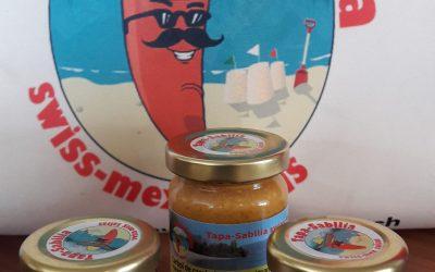 Les nouvelles étiquettes arrivent sur les pots de nos sauces piquantes d'Yvonand Tapa-Sabllia swiss-mex !