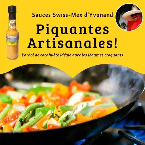 Légumes cacahuète hot sauce