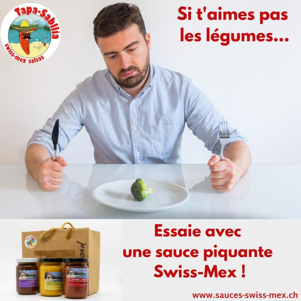 2-légumes-beurk-1024x1024 Si t'aimes pas les légumes ! Essaie avec une sauce piquante Swiss-Mex