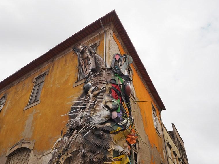 Street art: Bordalo II | Saudades de Portugal