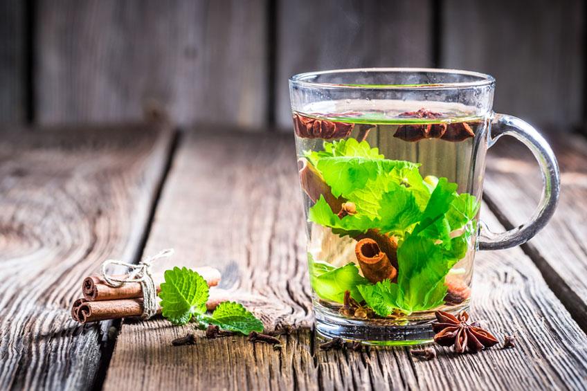 Chá de Gengibre com Hortelã e Canela