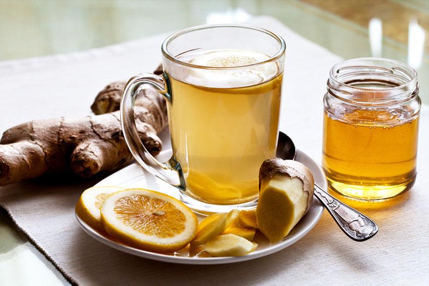 Chá de Gengibre com Limão e Mel
