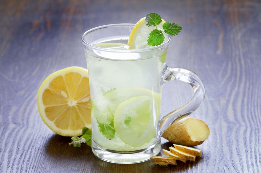 Chá Gelado de Gengibre com Limão