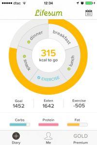 Contar Calorias com a App Lifesum