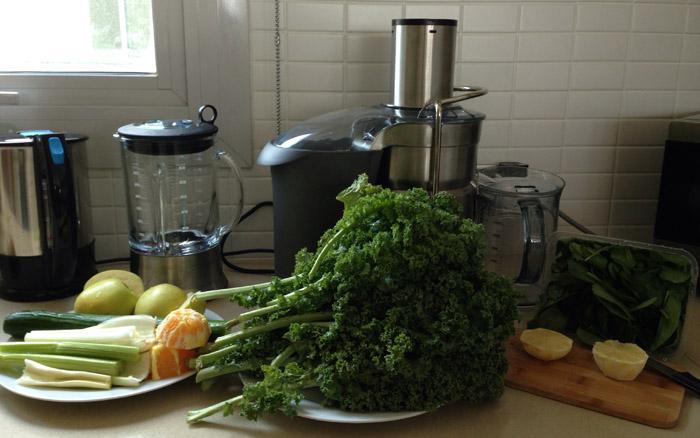 Ingredientes do Suco Verde