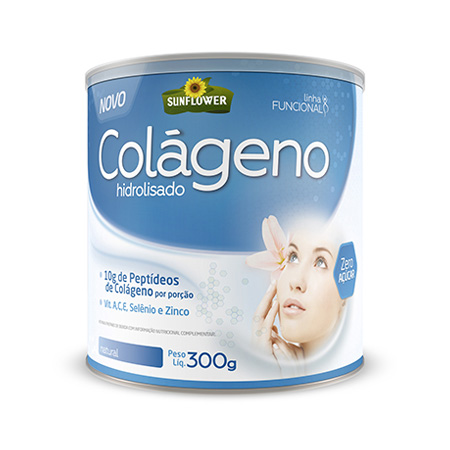 Colageno Soluvel – Natural – 300gr – Sunflower - Saúde Pura