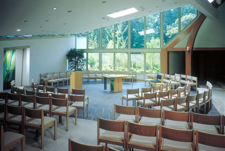 Sauder Oaklok chairs in beautiful worship facility