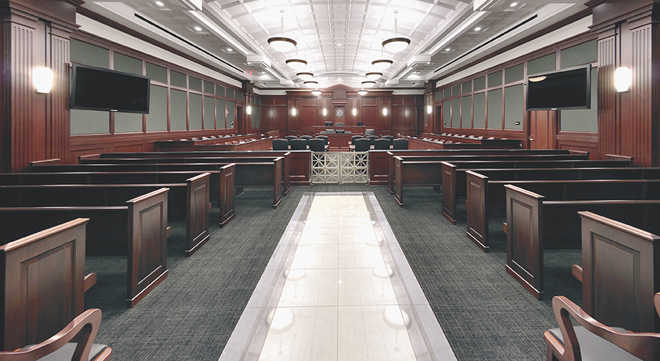 Duval County Courthouse custom seating and furnishing