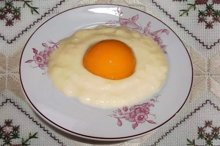 Sobremesa de Ovo Frito