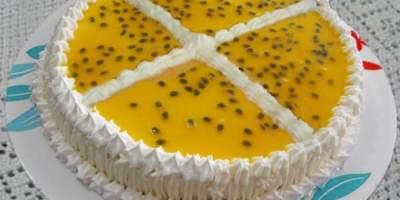 Torta-Mousse de Maracujá
