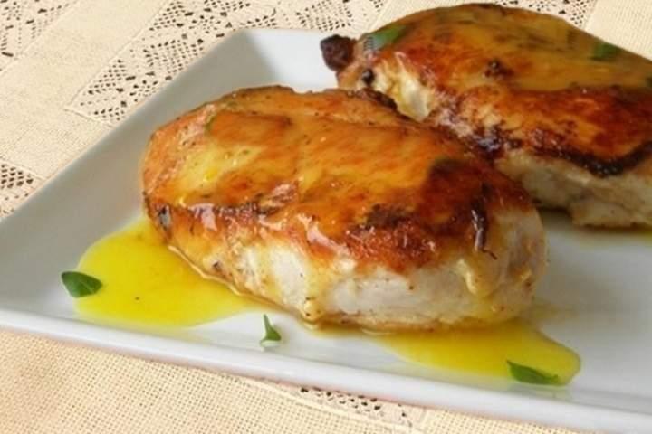 Frango com mostarda e mel