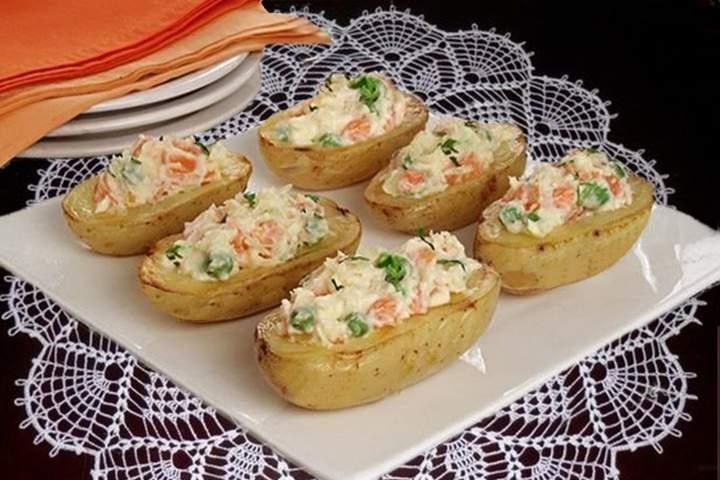 Barquinhas de Batatas com Maionese