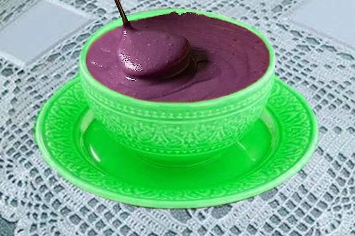Sopa Cremosa de Batata Doce Roxa