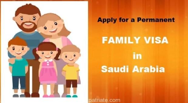 Easy Steps to Apply Permanent Family Visa in Saudi Arabia
