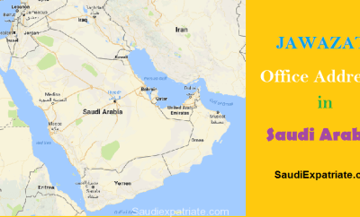 Jawazat Office Address Locations-SaudiExpatriate.com