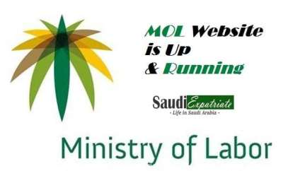 Official Website of Ministry of Labor (mol.gov.sa) is Up & Running-SaudiExpatriate.com