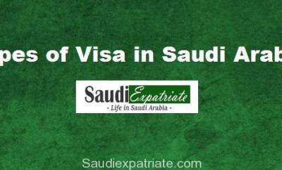 Types of Visa in Saudi Arabia, Saudi Visa Types