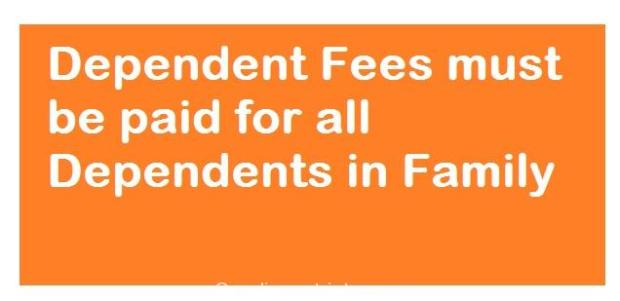 Dependent Fees must be paid for all Dependents in Family SaudiExpatriate.com