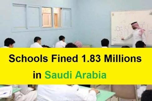 Schools Fined 1.8 Million Riyals for Labor regulation Violations-SaudiExpatriate.com
