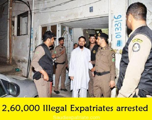 More than 2,60,000 Illegal Expatriates arrested till Date-SaudiExpatriate.com