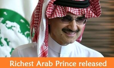 Richest Arab Prince Al-Waleed Bin Talal released-SaudiExpatriate.com