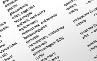 المصطلحات الطبية