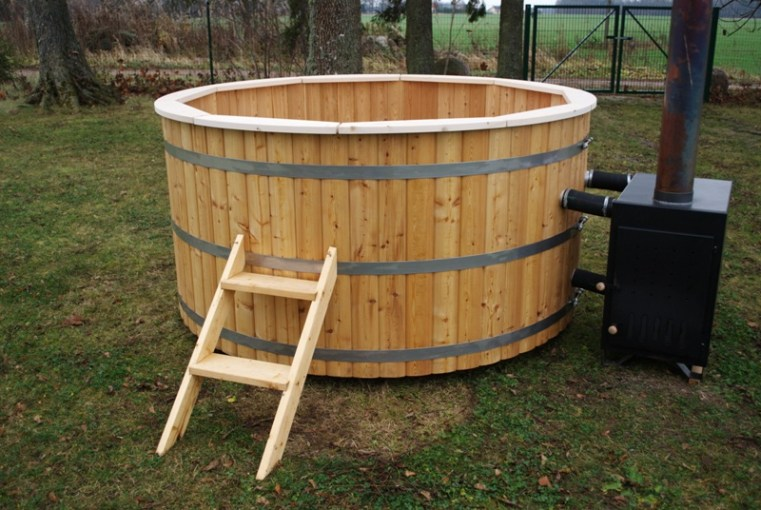 Woodfired Hot Tub   Wooden Hot Tubs and Barrel Saunas Woodfired Hot Tub