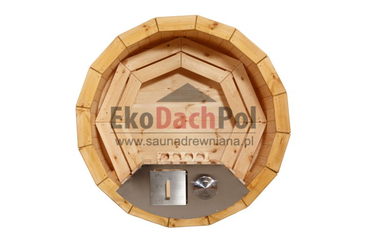 Deluxe pine hot tub with internal heater_1