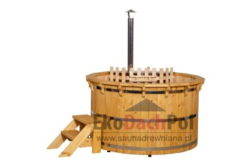 Deluxe pine hot tub with internal heater_2