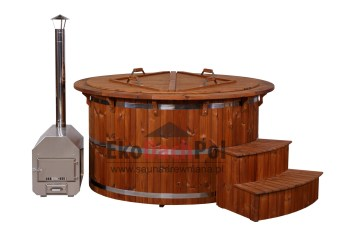 Royal thermowood hot tub with external heater_3