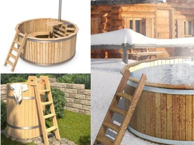Badezuber aus Holz