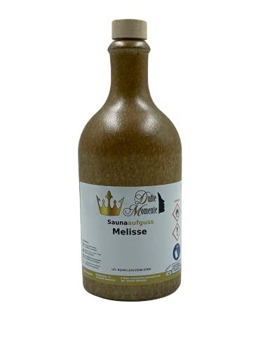 Sauna Aufguss Konzentrat Melisse - 500ml Steingutflasche mit Korkmündung