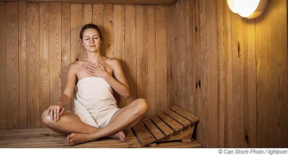 Luftfeuchtigkeit und Temperatur in der Sauna