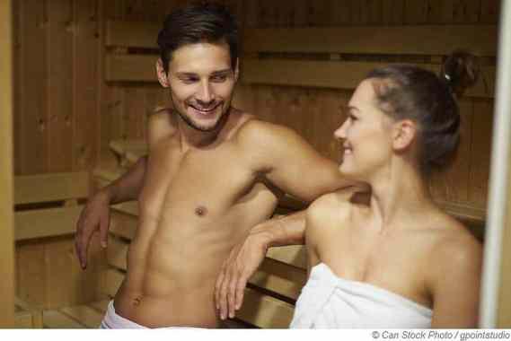 Darf in der Sauna geflirtet werden?