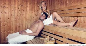 Körperliche Entspannung in der Sauna