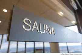 Sauna-Puristen zeigen keine Begeisterung über das Foto