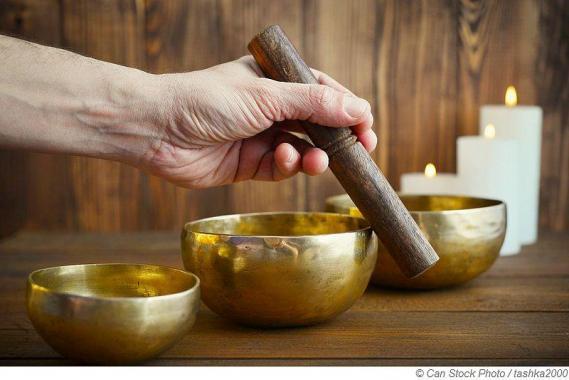 Meditationsaufguss mit tibetischer Klangschalen