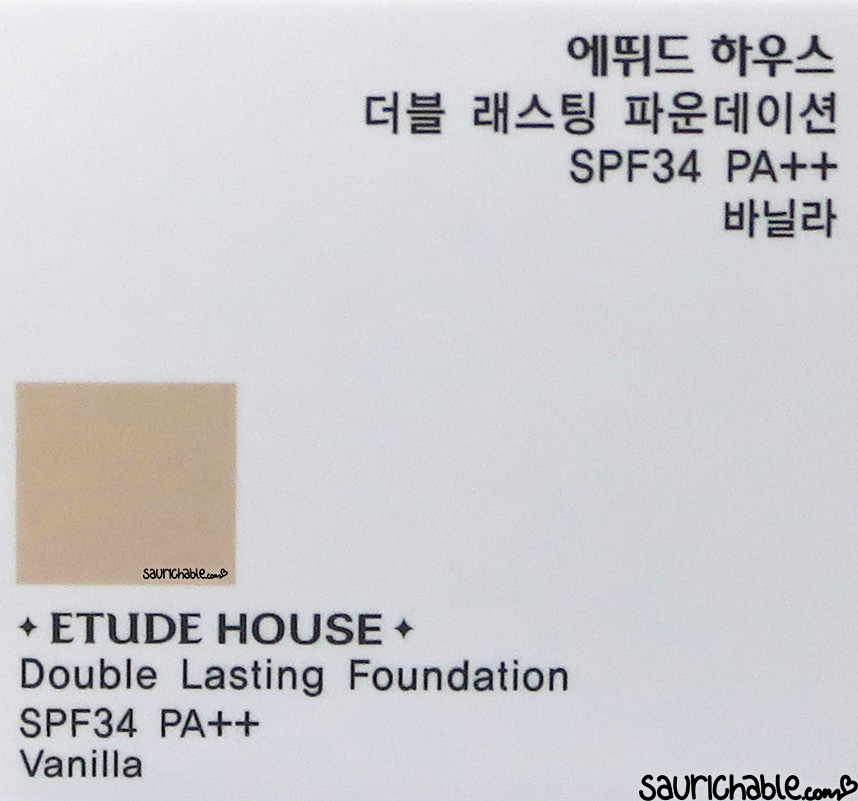 Etude House Double Lasting Foundation review
